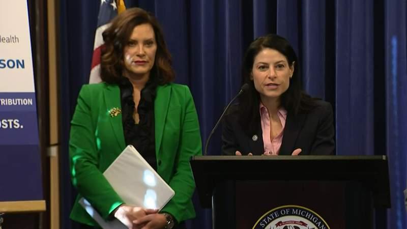 Michigan Gov. Gretchen Whitmer and Attorney General Dana Nessel.