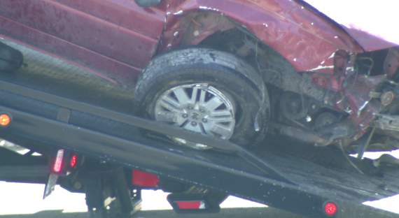A 34-year-old woman was killed in a single vehicle crash Saturday.