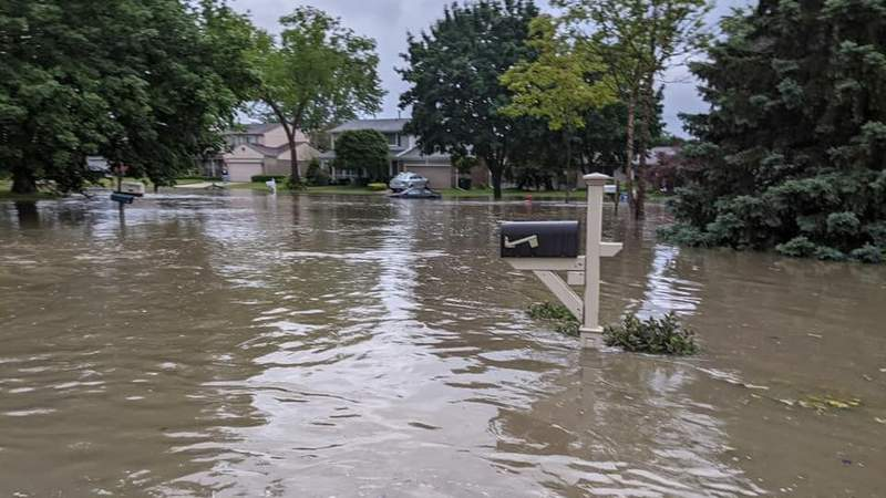 Michelle shared this photo of flooding in Rochester Hills on June 26, 2021.