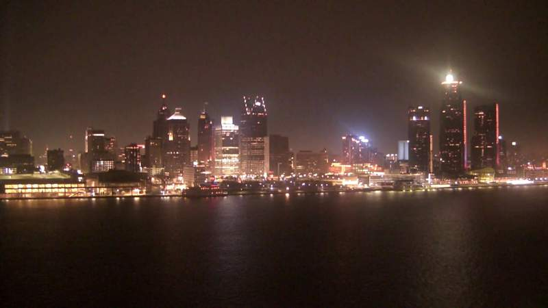 View of Detroit from the Windsor sky camera on Nov. 24, 2019 at 8:20 p.m.