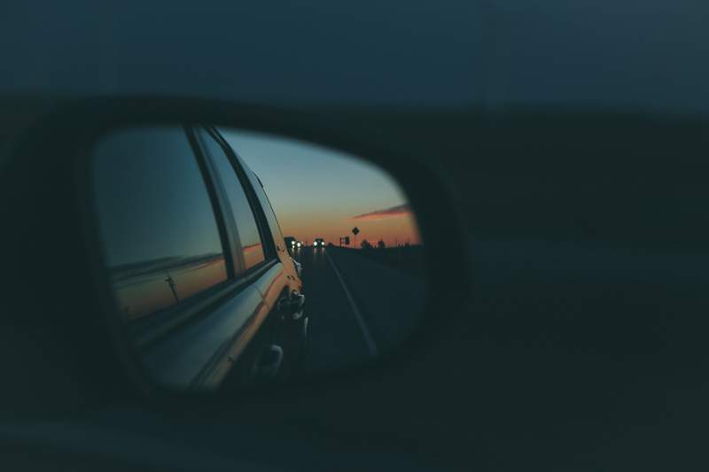 Rearview mirror -- road tripping