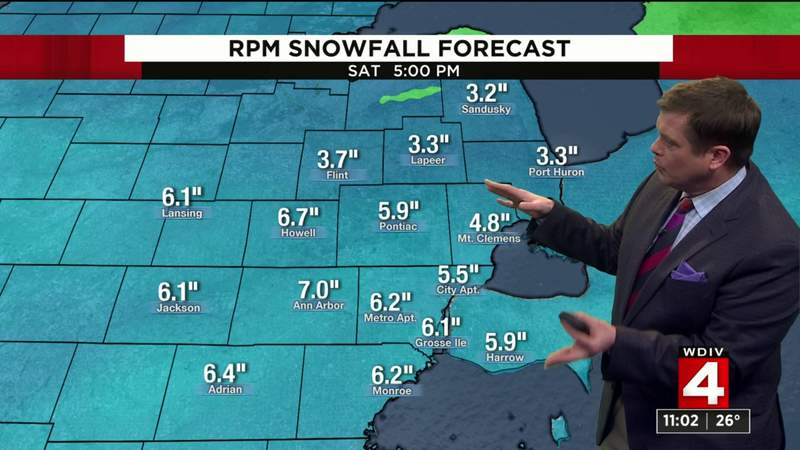 Metro Detroit weather -- Jan. 17, 2020: Several inches of snow expected