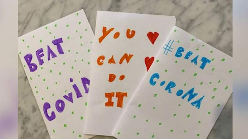 Michigan teen collects handmade notes for COVID-19 patients