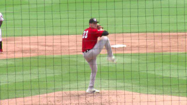Detroit Tigers pitching prospect Tarik Skubal on the mound for the Double-A Erie SeaWolves (WDIV)