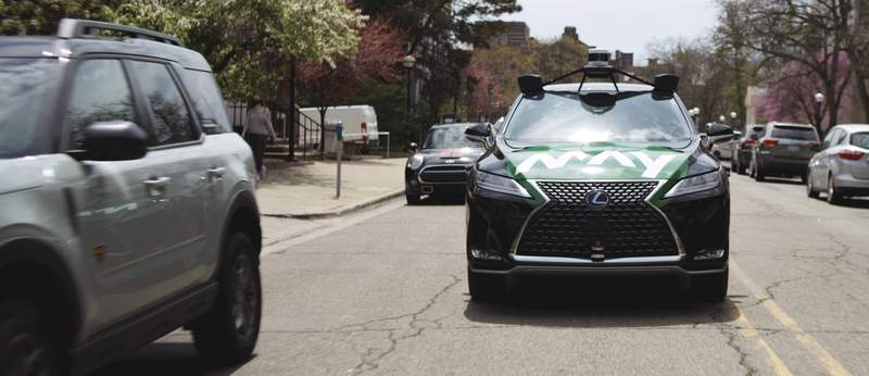 Pictured: One of four hybrid-electric Lexus RX 450h vehicles that will make up A2GO's fleet.