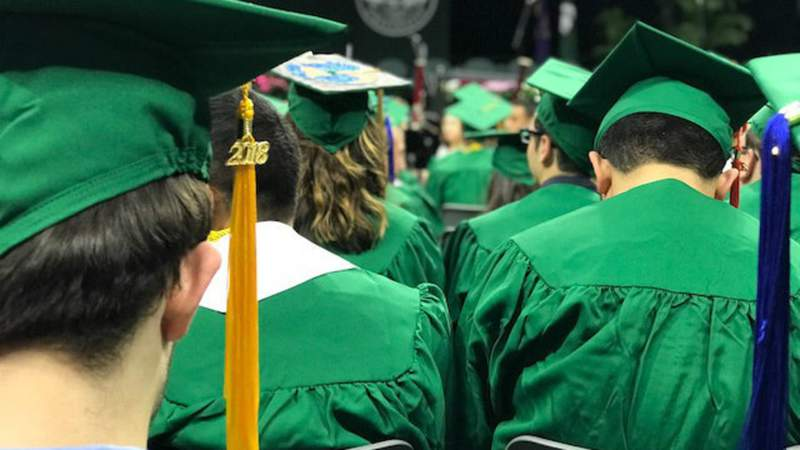 Michigan State University's 2018 spring commencement on May 4, 2018. (WDIV)
