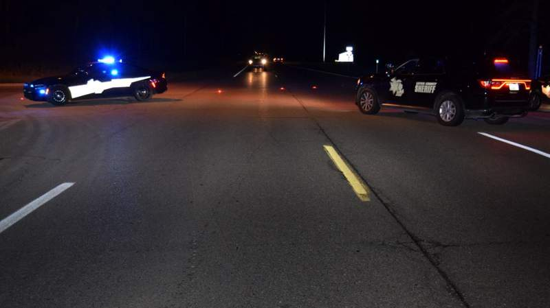 The scene of an Aug. 1, 2021, pedestrian crash in Lapeer County.