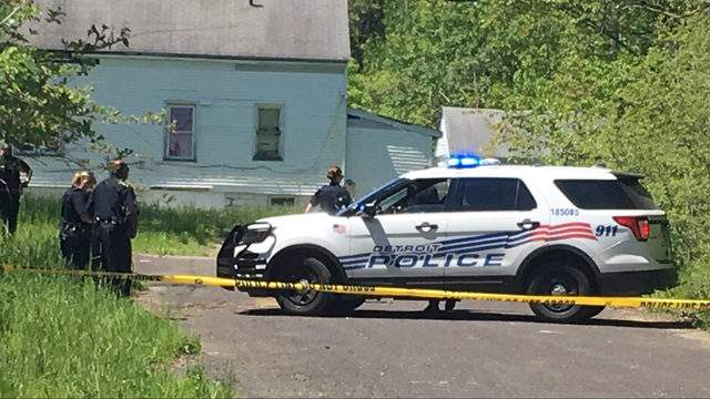 A body was found May 27, 2019, near Pennsylvania and East Canfield streets on Detroit's east side. (WDIV)