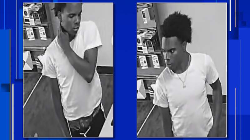 Police are looking for a man who reportedly threatened an employee and broke a computer monitor on Aug. 8, 2020.