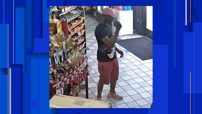 Detroit police are looking for a man wanted in connection with assault and battery at a gas station on the city's east side on July 15, 2020. Photo provided by the Detroit Police Department.