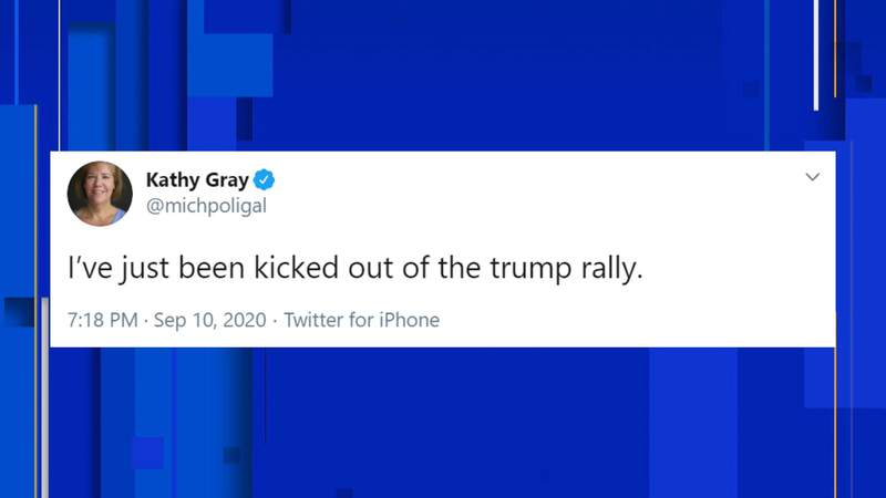 A New York Times correspondent attending a rally held by President Donald Trump in Freeland said she was tracked down by the Trump campaign and removed from the rally.