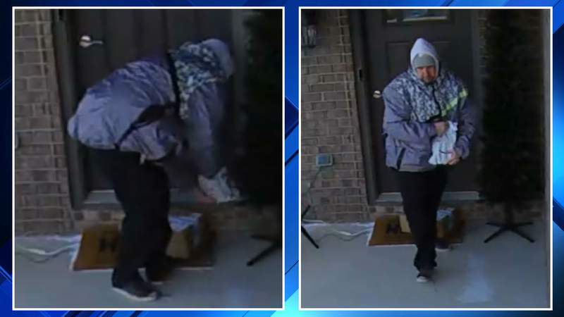 A man accused of stealing a package off a Van Buren Township porch on Dec. 18, 2019.