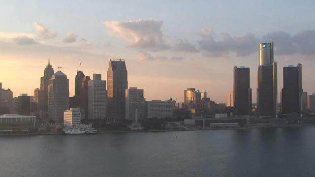 View of Detroit from the Windsor sky camera on July 1, 2019 at 8:43 p.m. (WDIV)
