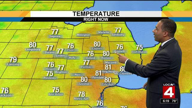 Andrew Humphrey takes a look at the upcoming Metro Detroit weather forecast for July 23, 2018. (WDIV)