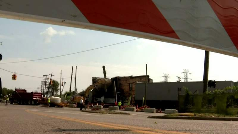 Southwest Detroit business torn down as investigation continues in road buckling