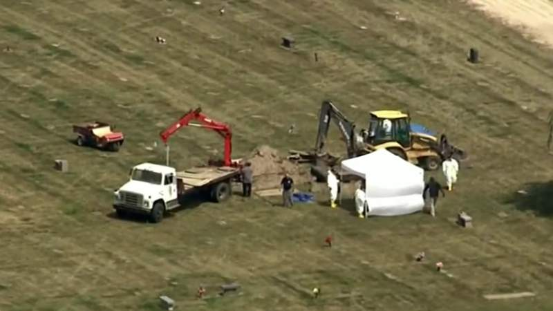 Police return to Canton cemetery to dig up more bodies