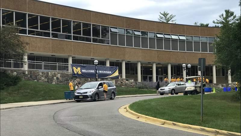 Freshman dorm Bursley Hall on Aug. 29, 2018 (Photo: Meredith Bruckner)
