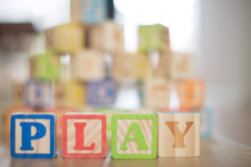 Toy letter blocks.