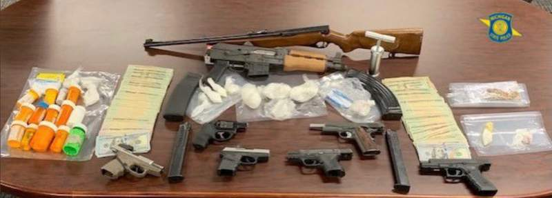 Items seized during an Aug. 19, 2021, search warrant in Detroit.