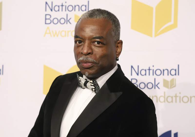 """FILE - LeVar Burton attends the 70th National Book Awards ceremony in New York on Nov. 20, 2019. Burton will serve as guest host on the game show """"Jeopardy!"""" (Photo by Greg Allen/Invision/AP, File)"""