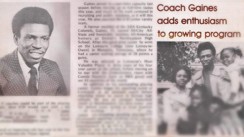 How former Detroit Mercy coach Smokey Gains paved the way