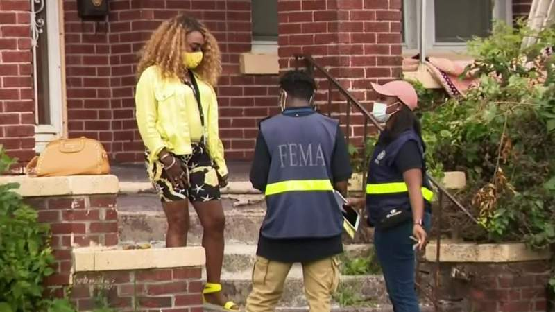 FEMA officials visit Jefferson Chalmers neighborhood in Detroit after severe flooding