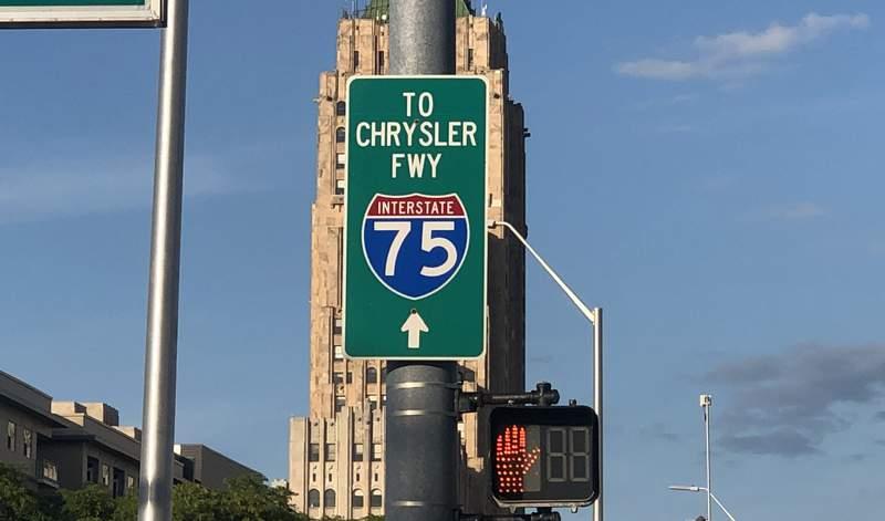 I-75 sign in Detroit.