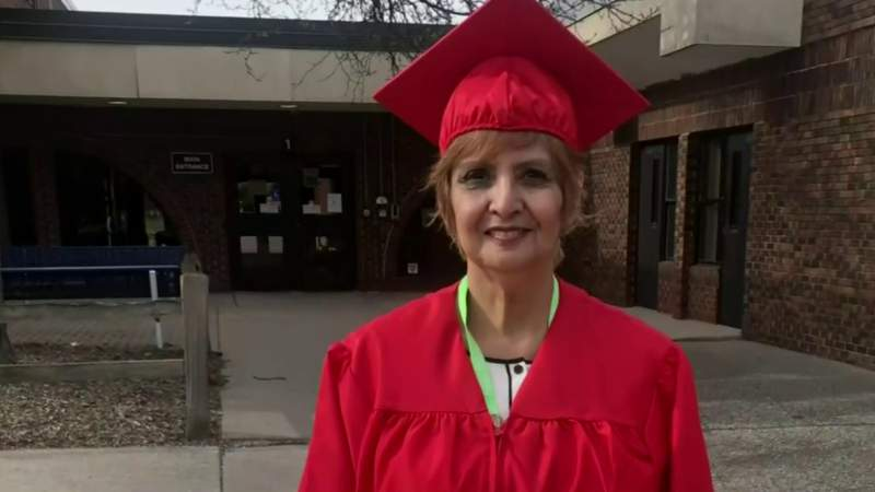 70-year-old Metro Detroit woman graduates from high school with inspiring message