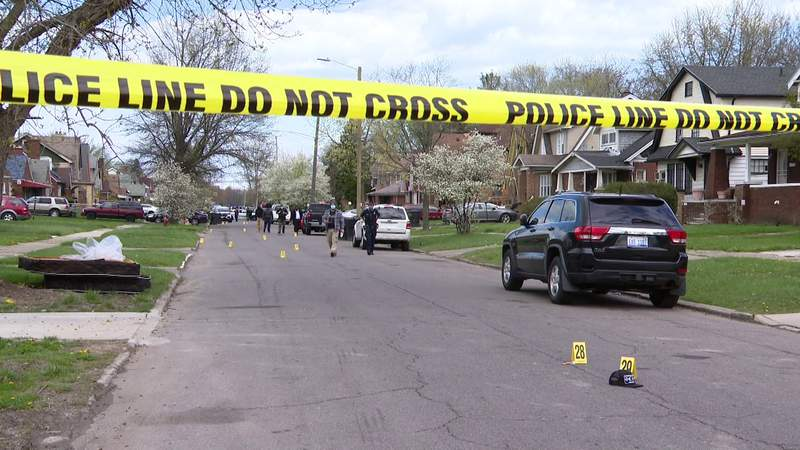 Detroit police investigating an April 17, 2021 triple-shooting.