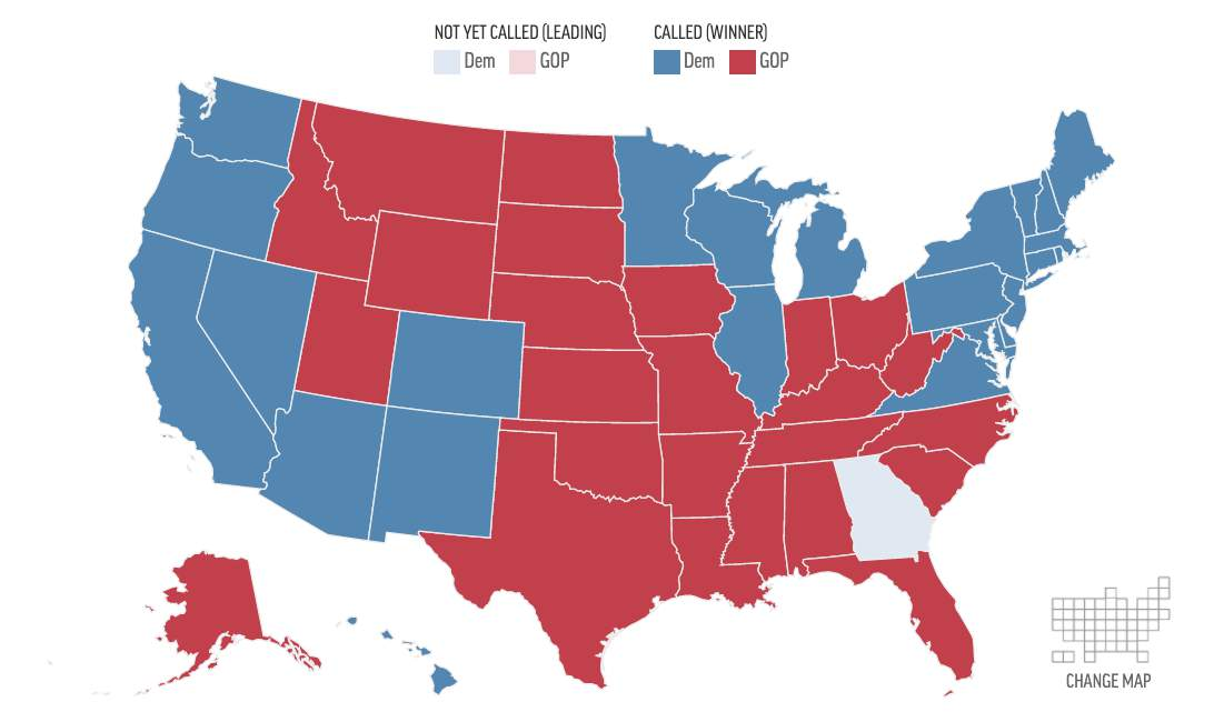 Us Election Results State Map State by state presidential race results for Nov. 3, 2020 General