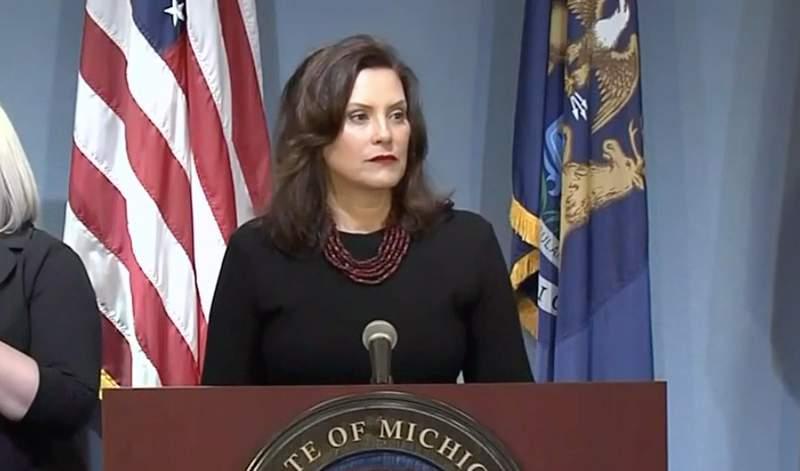 Michigan Gov. Gretchen Whitmer at her May 29, 2020, coronavirus (COVID-19) press briefing.