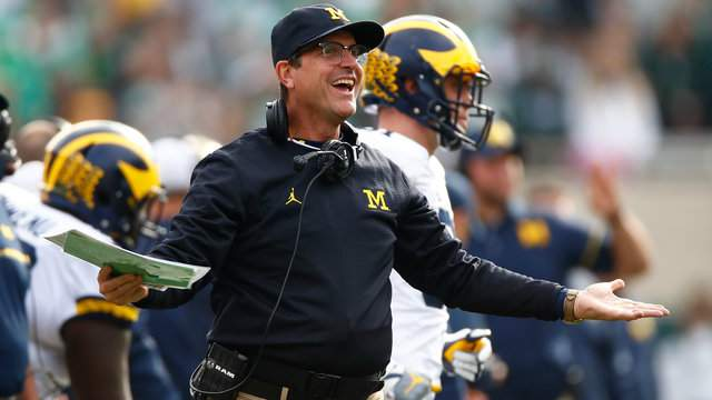 Michigan football Coach Jim Harbaugh (Gregory Shamus/Getty Images).