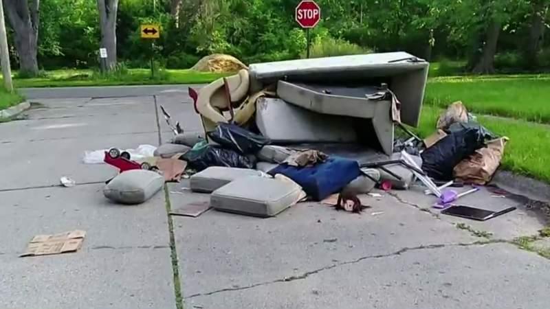 Detroiter who shames illegal dumpers on Facebook sees latest video get deleted
