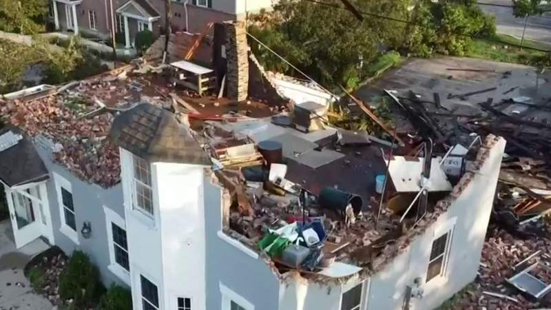 Tornado rips off roofs, brings down trees, power lines in Armada