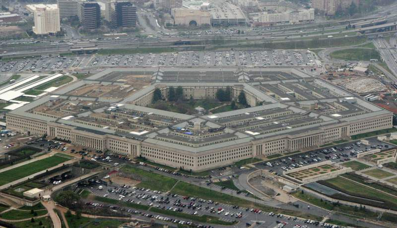 FILE - This March 27, 2008, file photo shows the Pentagon in Washington. The specter of election chaos in the United States is raising questions about whether voting, vote-counting or the post-vote reaction could become so chaotic that the military would intervene. (AP Photo/Charles Dharapak, File)