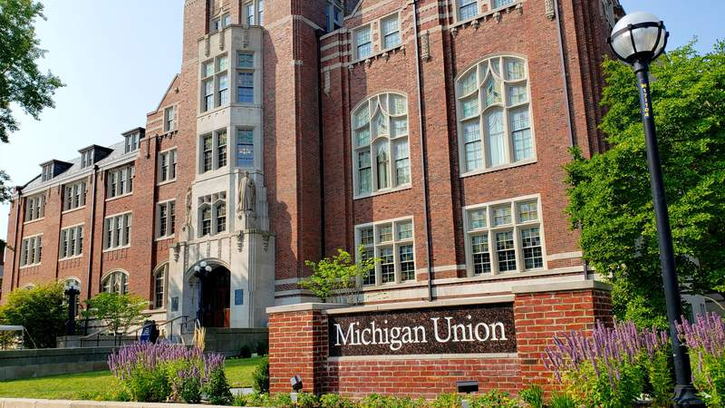 The Michigan Union is at 530 S. State St. in downtown Ann Arbor, Michigan.