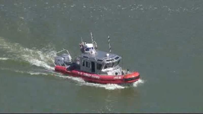 A U.S. Coast Guard boat on Lake Erie.