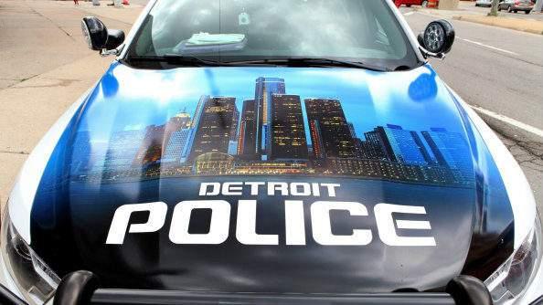 Detroit Police Department patrol vehicle (WDIV)