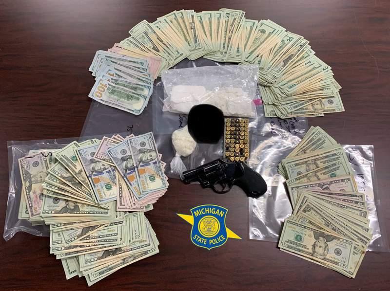 Items seized during a July 22, 2021, drug bust in Van Buren Township.
