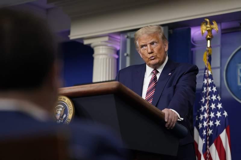 Donald Trump fotografiado durante una conferencia de prensa en la Casa Blanca el 27 de septiembre del 2020. Un informe del New York Times dice que el mandatario casi no paga impuestos porque muchos de sus negocios dan prdidas. (AP Foto/Carolyn Kaster)