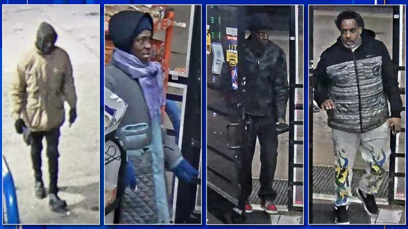 Police are seeking four people in connection with a March 3, 2021 carjacking.