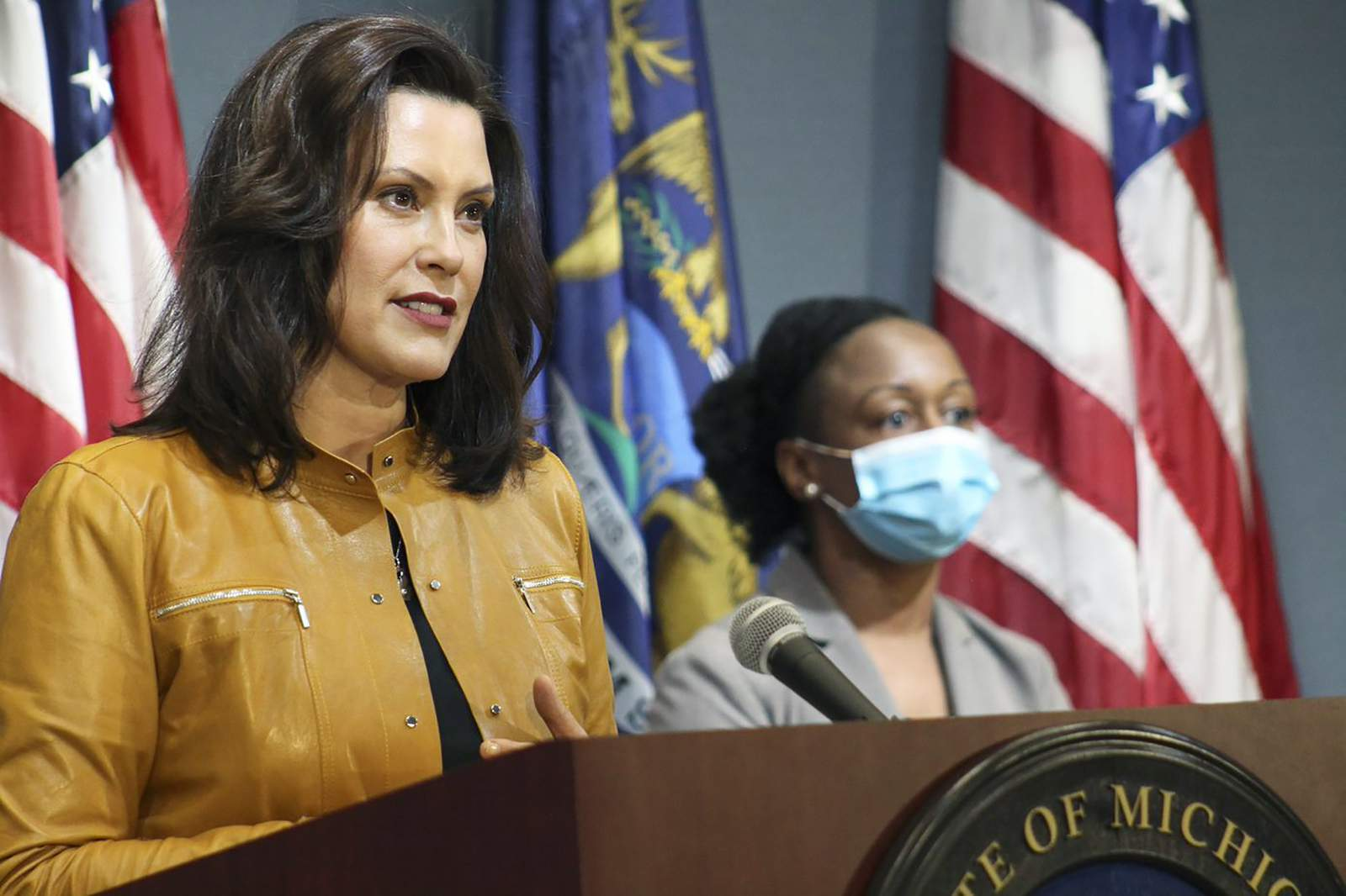 Michigan Gov Whitmer Says Strong Covid 19 Actions Have Paid Off But Will Take Economic Toll