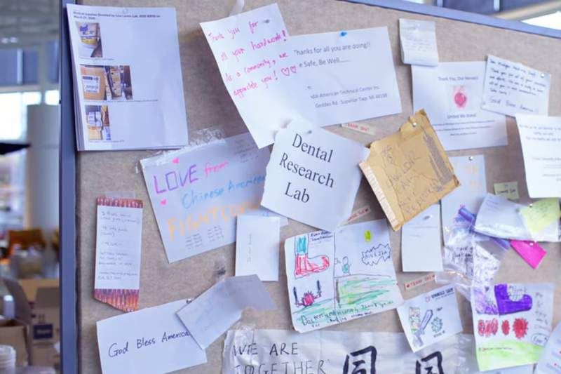 Messages of thanks from the community were included in some donations.