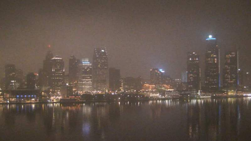 View of Detroit from the Windsor sky camera on Jan. 15, 2020 at 8:15 p.m.
