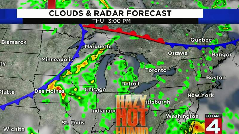 SE Michigan weather forecast for July 8, 2020 -- morning update