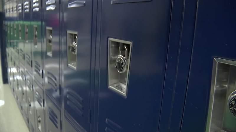 Lockers in a St. Johns County school