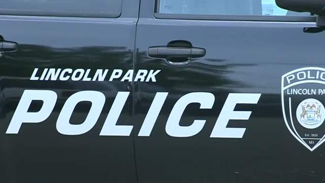 Lincoln Park police vehicle (WDIV)