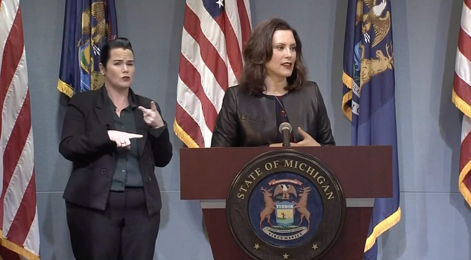 Gov Whitmer Addresses Extending Michigan State Of Emergency