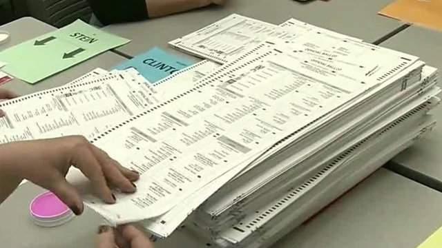Counting election ballots in Michigan. (WDIV)