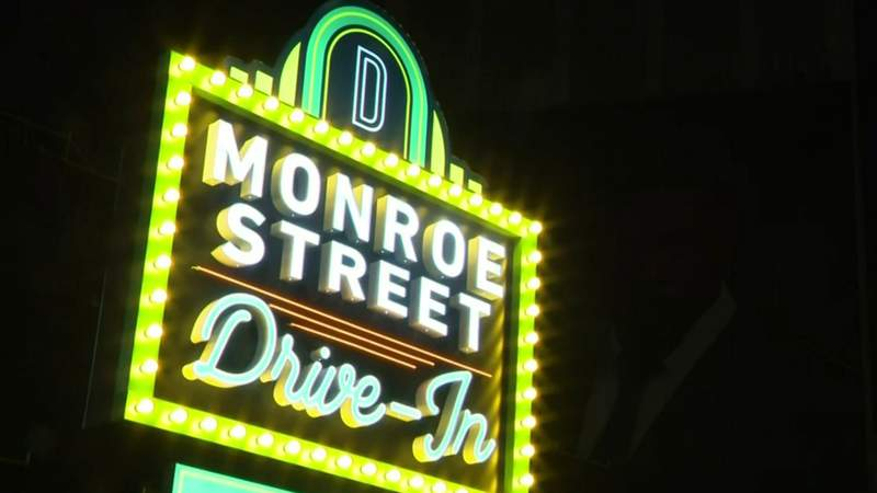 Families attend first night of new drive-in theater in Downtown Detroit
